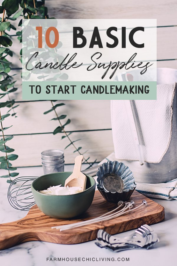 Ready to get your candle making supplies? Here's a list of my favorites to make farmhouse candles with!