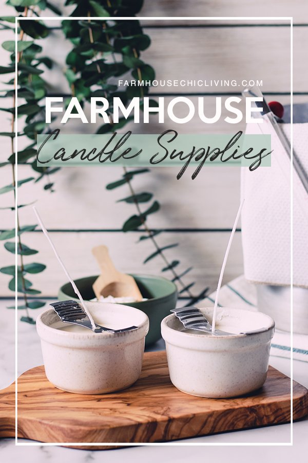 Who doesn't love decorating their home with a beautifully crafted candle? They add warmth and light to any space or decor and always make our farmhouse feel cozier. Check out my favorite supplies for making candles farmhouse style!