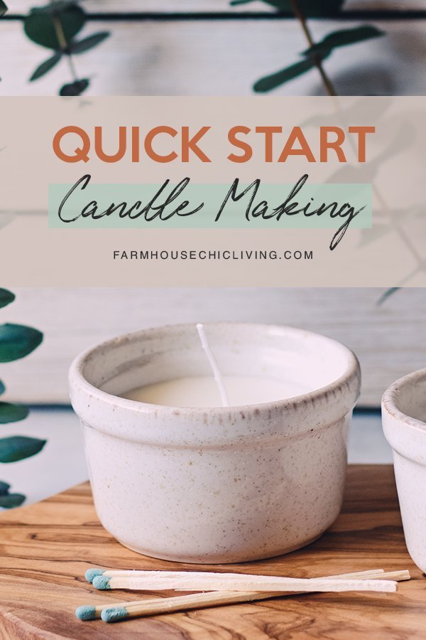 How do you make scented candles? It really comes down to just melting wax, adding scent, and pouring it into your containers. Learn how to get it right the first time with 4 simple DIY candle making steps.