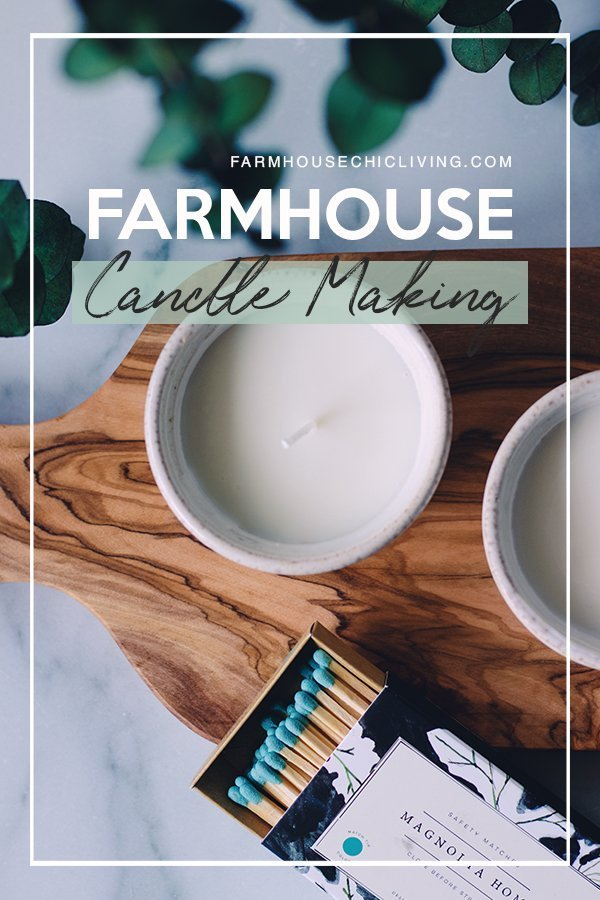Want to make farmhouse candles? I've narrowed DIY candle making down to just 4 steps!