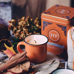 These mini pumpkin spice candle mugs capture that flavorful signature autumnal scent. And making one of these homemade candles is easier than you think!