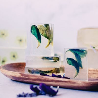 Pressed Flowers Clear Soap Bar Recipe