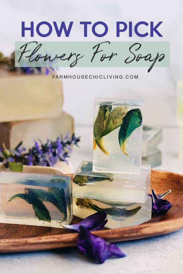 If you're picking flowers for soap freshness is key and there are certain types of flowers that are best for soap making.