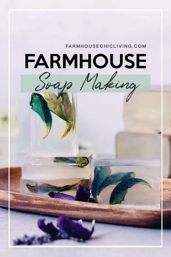 Handmade pressed flower clear soap bars are not only practical for use in our farmhouse, but make beautiful gifts at any time of the year