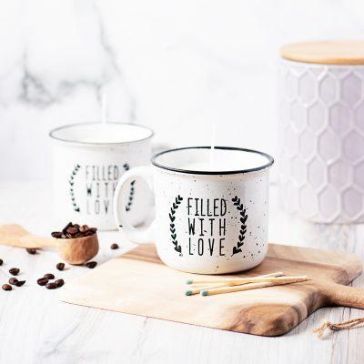DIY Coffee Candle Mugs
