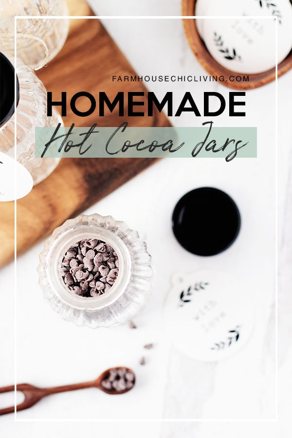 I'll show you how to make mom's homemade hot cocoa recipe in a jar for heartwarming gifts. I promise it will come together quickly and make the most adorable jars of hot cocoa with chocolate chips.