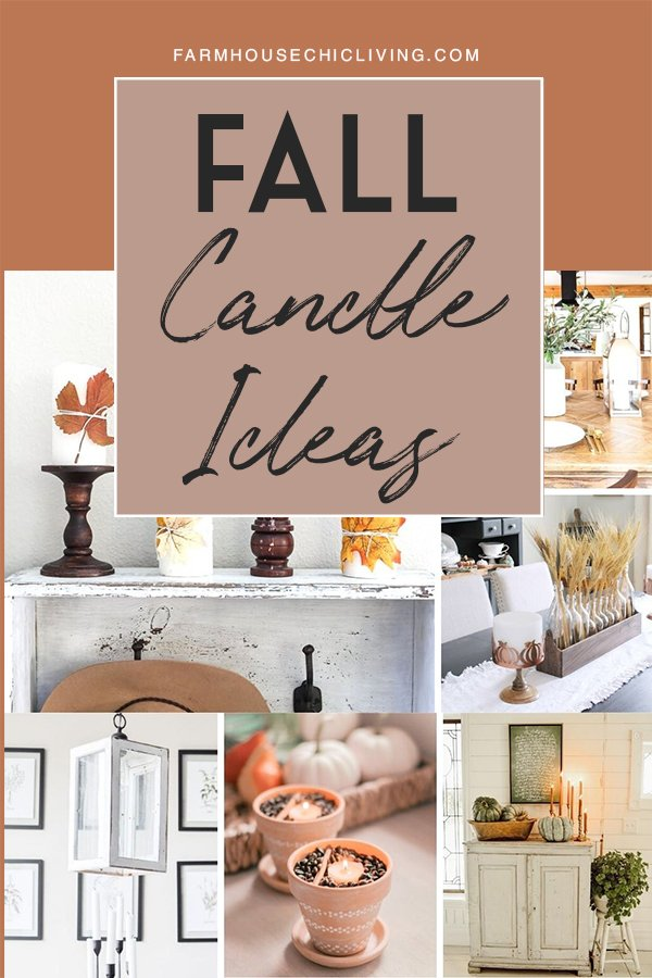 Using candles for farmhouse fall decor is super easy when you've found your favorite fall scent. And we have 11 inspiring ideas and DIY fall candles to get you started!