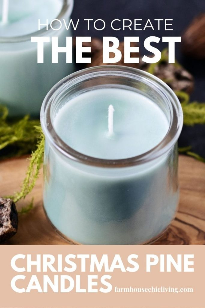 Create farm fresh pine candles like a walk in the snowy woods.