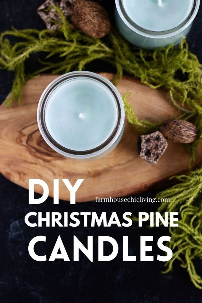 These farm fresh pine candles are a wonderful gift for the holidays!