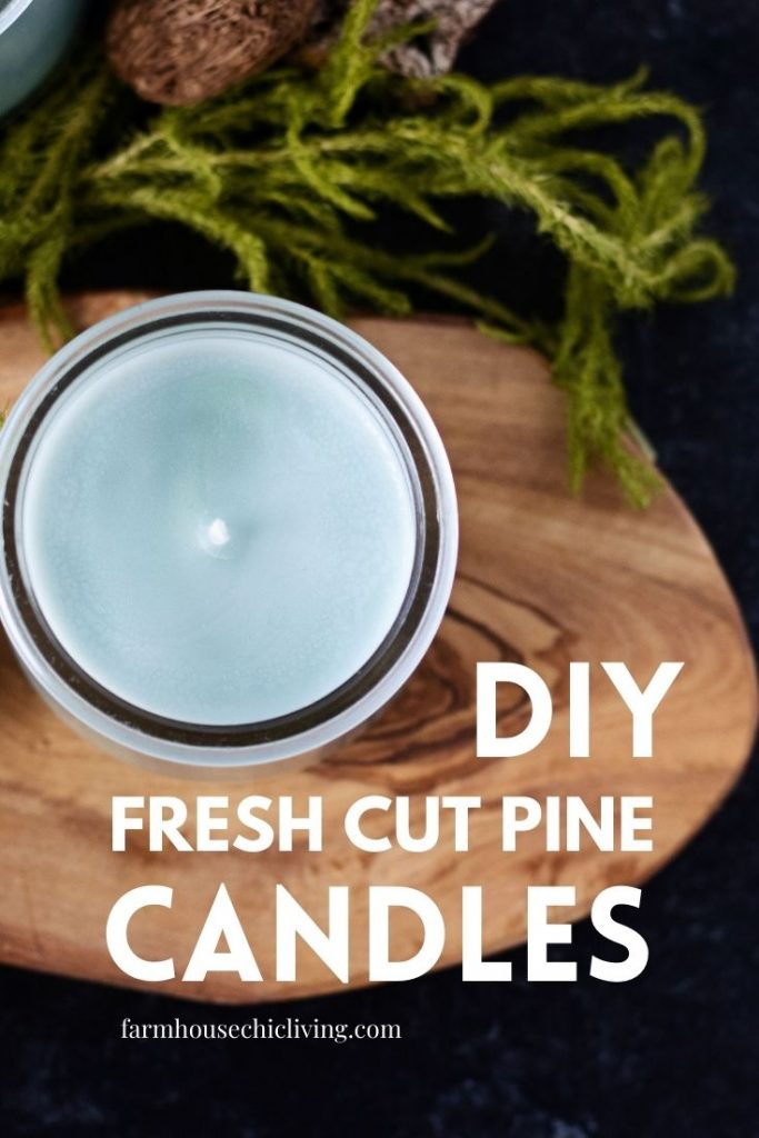 These farm fresh pine candles make a great handmade gift idea for him!
