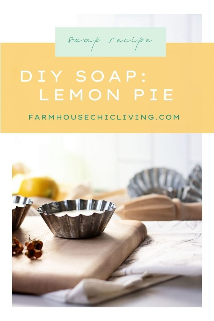 This lemon meringue pie DIY soap recipe comes together in the blink of an eye with only 4 ingredients!