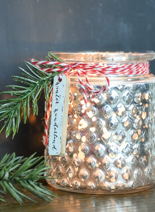 Can you believe these DIY Mercury glass votive holders started with a candle from a dollar store?