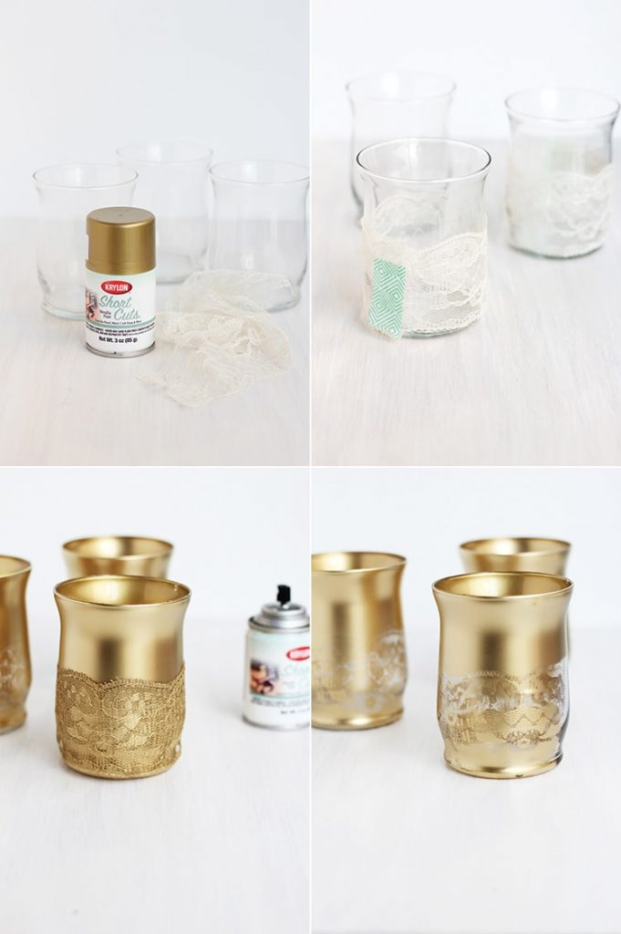 These Gold Lace Candle Holders are the perfect accessory for your entry table to everyday dinners.