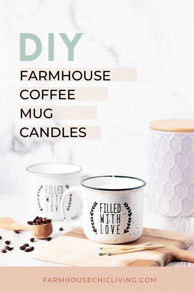 How to make farmhouse style DIY coffee candle mugs!