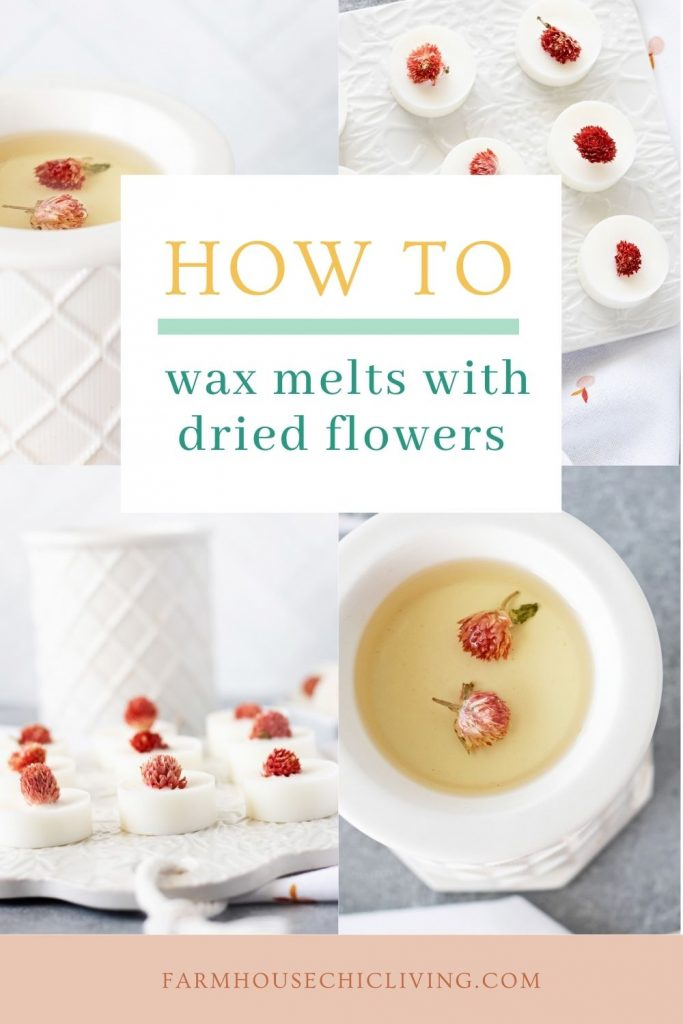When it comes to how to make wax melts with dried flowers it couldn't be easier!